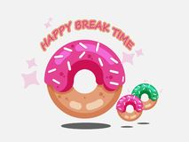 Donut vector set isolated on a white background. Donut collection. Sweet sugar icing donuts. vector illustration