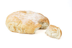 Break to pieces bread. Isolated on white background Stock Photography