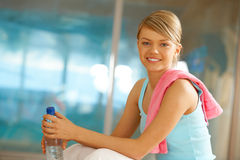 Break after training Royalty Free Stock Image