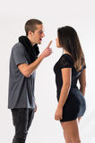 Break Up. A couple of sweethearts having a crisis in their relationship royalty free stock photo