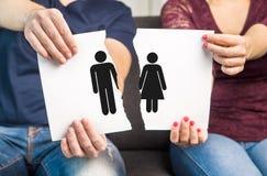 Break up, divorce and marital problems concept. stock photos