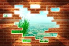 Break the wall Royalty Free Stock Photo