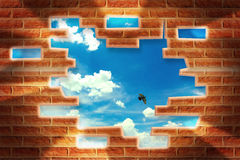 Break the wall Royalty Free Stock Image