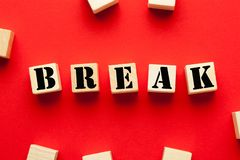 Break word concept royalty free stock photography