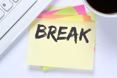 Break work lunch working relax business desk Royalty Free Stock Images