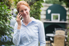 Break from Work - Phone Call Royalty Free Stock Photography