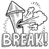 Break from work sketch vector illustration
