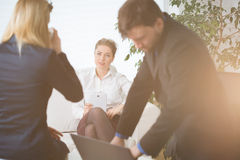 Break at work Royalty Free Stock Photography