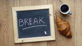 Break written Royalty Free Stock Photo