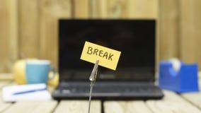 Break written Royalty Free Stock Photo