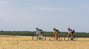 Breakaway - Тур-де-Франс 2017 Стоковые Фото