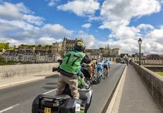 The Breakaway and the Amboise Chateau- Paris-Tours 2017 royalty free stock images