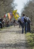 The Breakaway in The Forest of Arenberg- Paris Roubaix 2015 Royalty Free Stock Photo