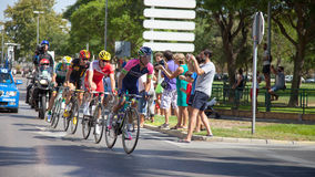 Breakaway group Vuelta de España stage 2 Royalty Free Stock Images