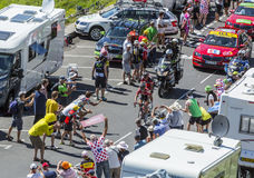 The Breakaway in Mountains - Tour de France 2016 Stock Photography