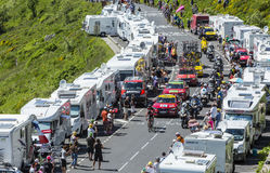 The Breakaway in Mountains - Tour de France 2016 Royalty Free Stock Image