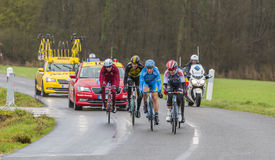 The Breakaway - Paris-Nice 2017 stock images