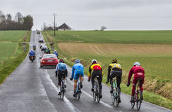 The Breakaway - Paris-Nice 2017 stock photography