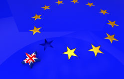 Breakaway problem from the European Union. 3D illustration Royalty Free Stock Photography