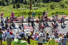 Breakaway w górach - tour de france 2016 Zdjęcie Stock
