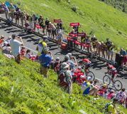 Breakaway w górach - tour de france 2016 Obraz Stock