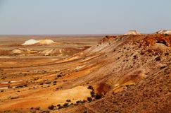 The Breakaways. Gibber Plains and mica pits of South Australia Stock Images