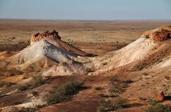 The Breakaways. Gibber Plains and mica pits of South Australia Royalty Free Stock Photos