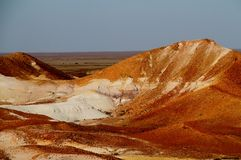 The Breakaways. Gibber Plains and mica pits of South Australia Royalty Free Stock Image