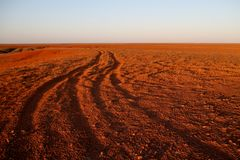 The Breakaways. Gibber Plains and mica pits of South Australia Royalty Free Stock Photo