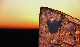 The Breakaways. Gibber Plains and mica pits of South Australia Royalty Free Stock Images