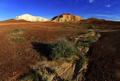 The Breakaways, South Australia. Panorama of The Breakaways near Coober Pedy, South Australia Stock Photography