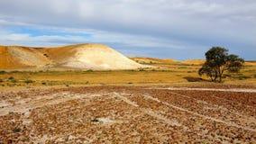 The Breakaways, South Australia. Panorama of The Breakaways near Coober Pedy, South Australia royalty free stock photo