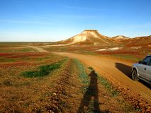 The Breakaways, South Australia. Panorama of The Breakaways near Coober Pedy, South Australia Stock Photos