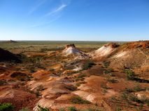 The Breakaways, South Australia. Panorama of The Breakaways near Coober Pedy, South Australia Royalty Free Stock Images