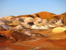 The Breakaways, South Australia. Panorama of The Breakaways near Coober Pedy, South Australia Stock Image