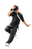 Breakdance. In action on white background Royalty Free Stock Images