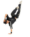 Breakdance. In action on white background Stock Photo