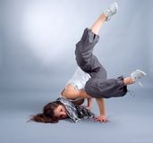 Breakdance. Cool looking dancer posing . breakdance Royalty Free Stock Photography