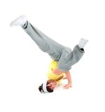 Breakdance. Cool looking dancer posing . breakdance Royalty Free Stock Photo
