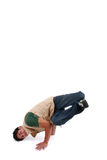 Breakdance. Man breakdancing. room above for copy Stock Image