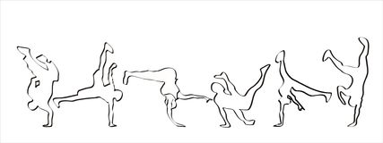 Breakdance illustrazione di stock