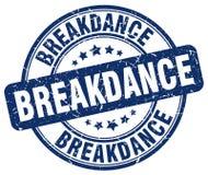 Breakdance blue stamp. Breakdance blue grunge round stamp isolated on white background Stock Image