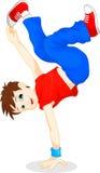 Breakdance boy Stock Image