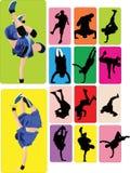 Breakdance break dance. Collection breakdance break dance sport royalty free illustration