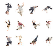 Breakdance Collage Stockfotos