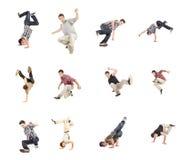 Breakdance Collage stockfotos