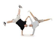 Breakdance da dança do adolescente na ação Foto de Stock