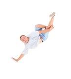 Breakdance da dança do adolescente na ação Fotos de Stock Royalty Free