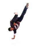 Breakdance dancer. In action on white background Stock Images