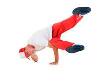 Breakdance del baile del adolescente en la acción Foto de archivo